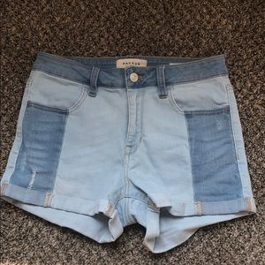 PACSUN Denim Shorts with Patches